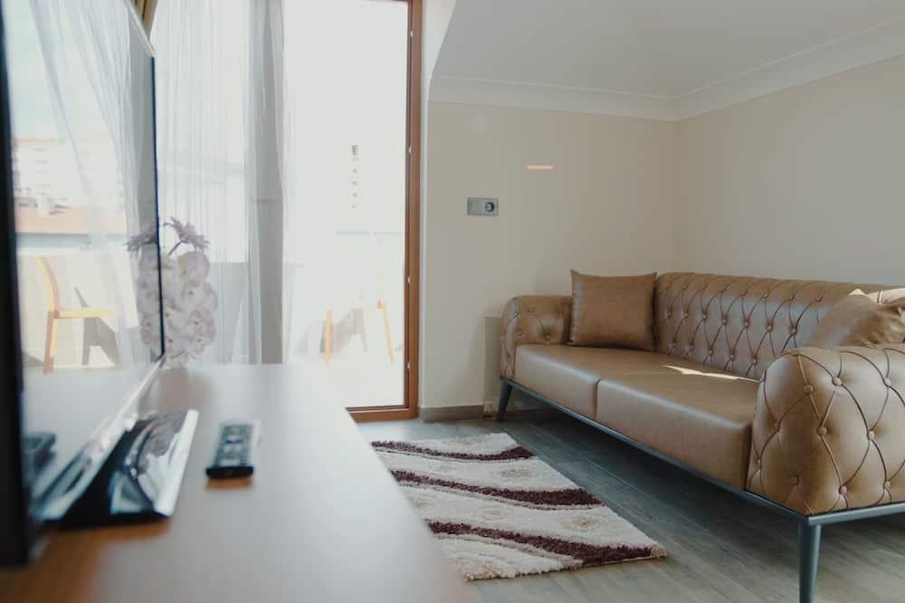 Studijas tipa luksusa numurs, skats uz jūru - Dzīvojamā zona