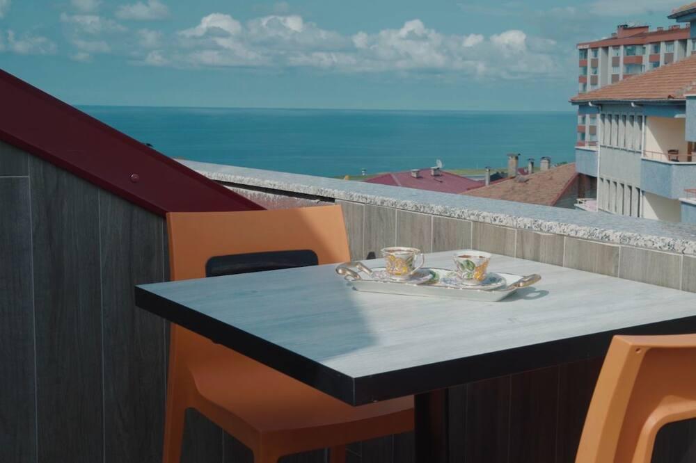 Studijas tipa luksusa numurs, skats uz jūru - Terase/iekšējais pagalms