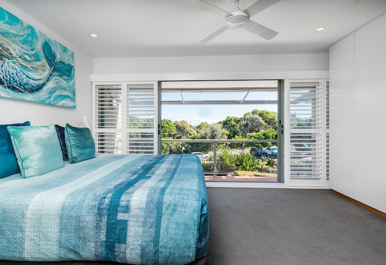 Number 4 James Cook Apartments, Byron Bay, Appartement Familial, Vue de la chambre