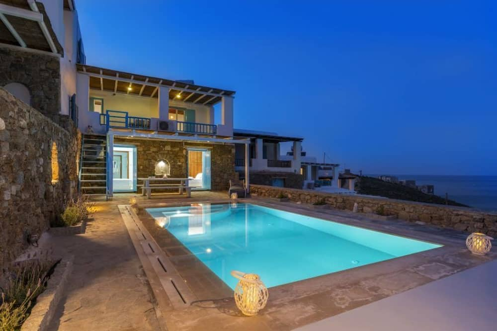 Vila, 3 kamar tidur, kolam renang pribadi, pemandangan laut (Agapi) - Kolam renang pribadi