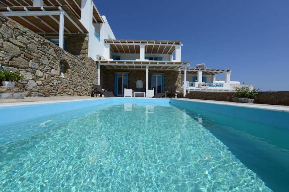 Vila, 3 kamar tidur, kolam renang pribadi, pemandangan laut (Erato) - Kolam renang pribadi