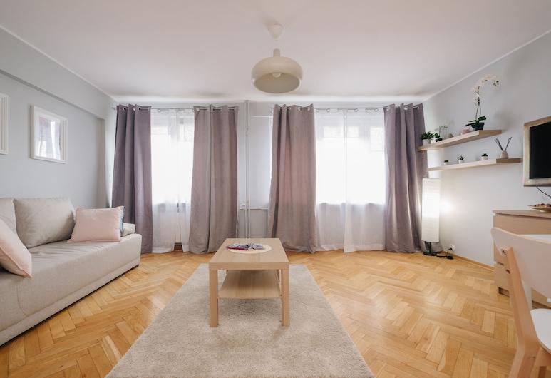 Esperanto Pastel Apartment, Varšava, Štandardný štúdiový apartmán, Obývačka