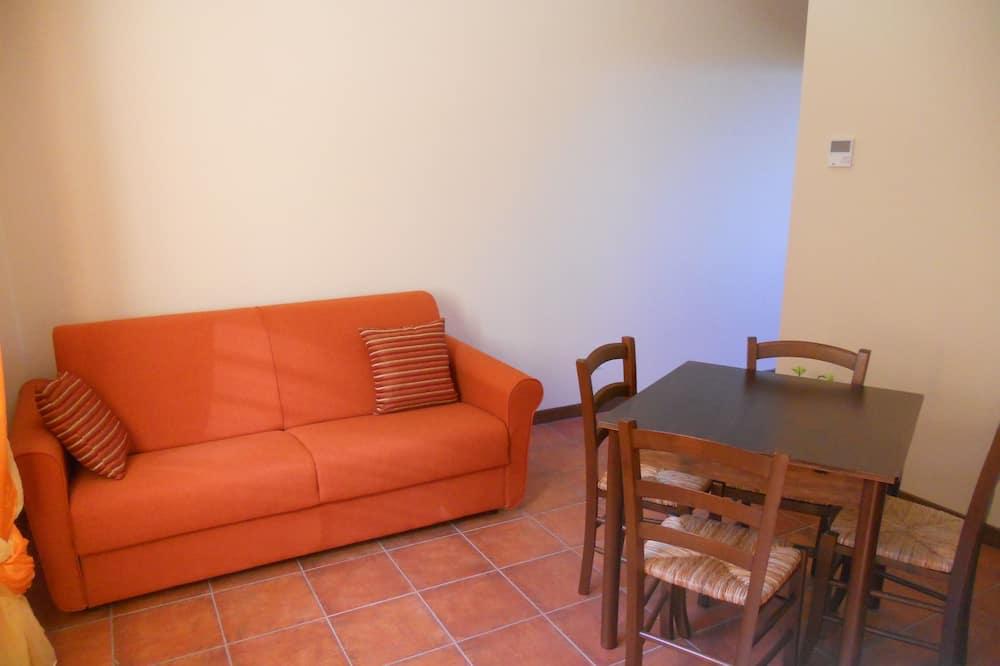 Appartement, 1 chambre, vue vallée - Coin séjour
