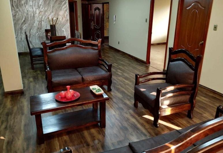 Madre Nuestra, La Paz, Luxury-Apartment, Wohnbereich