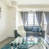 Appartement Familial, 1 grand lit et 1 canapé-lit (4002) - Coin séjour