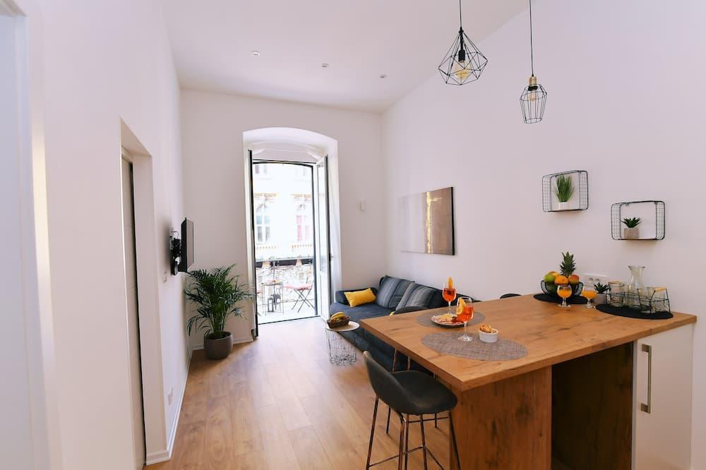 Appartement Deluxe, balcon - Coin séjour