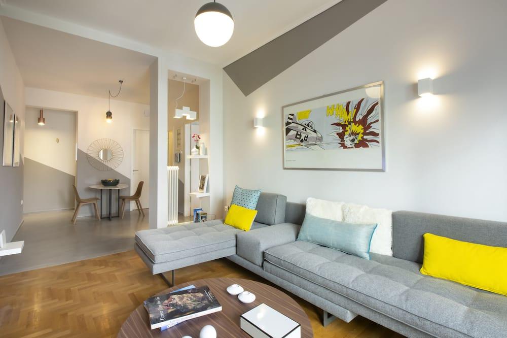Išskirtinio dizaino apartamentai, 1 didelė dvigulė lova ir 1 sofa-lova, Nerūkantiesiems - Vonios kambarys