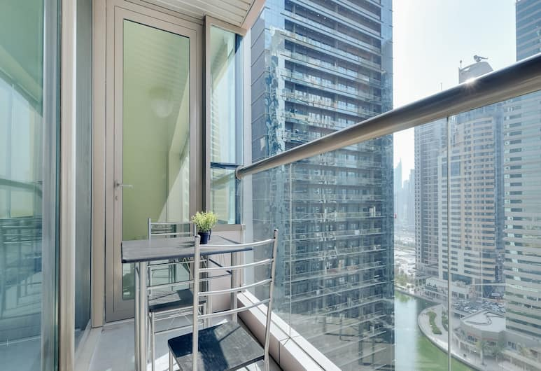 OYO 212 Home V3 Tower JLT, Dubajus, Balkonas