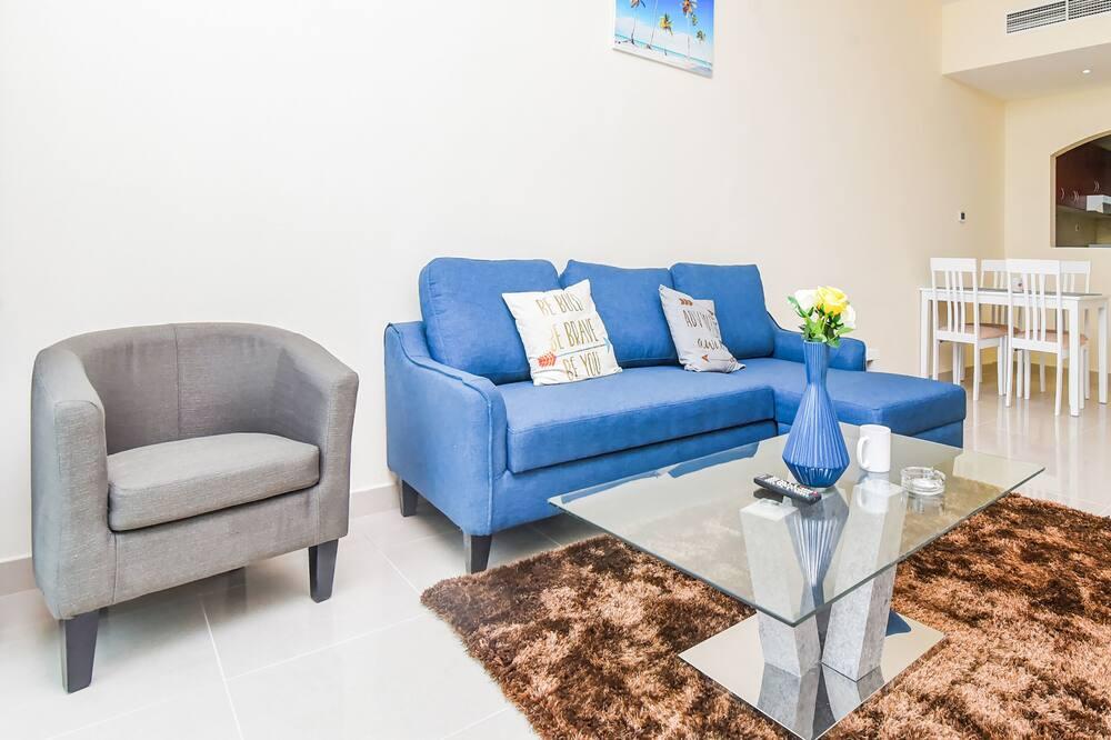 Klasisks dzīvokļnumurs, divas guļamistabas - Dzīvojamā zona