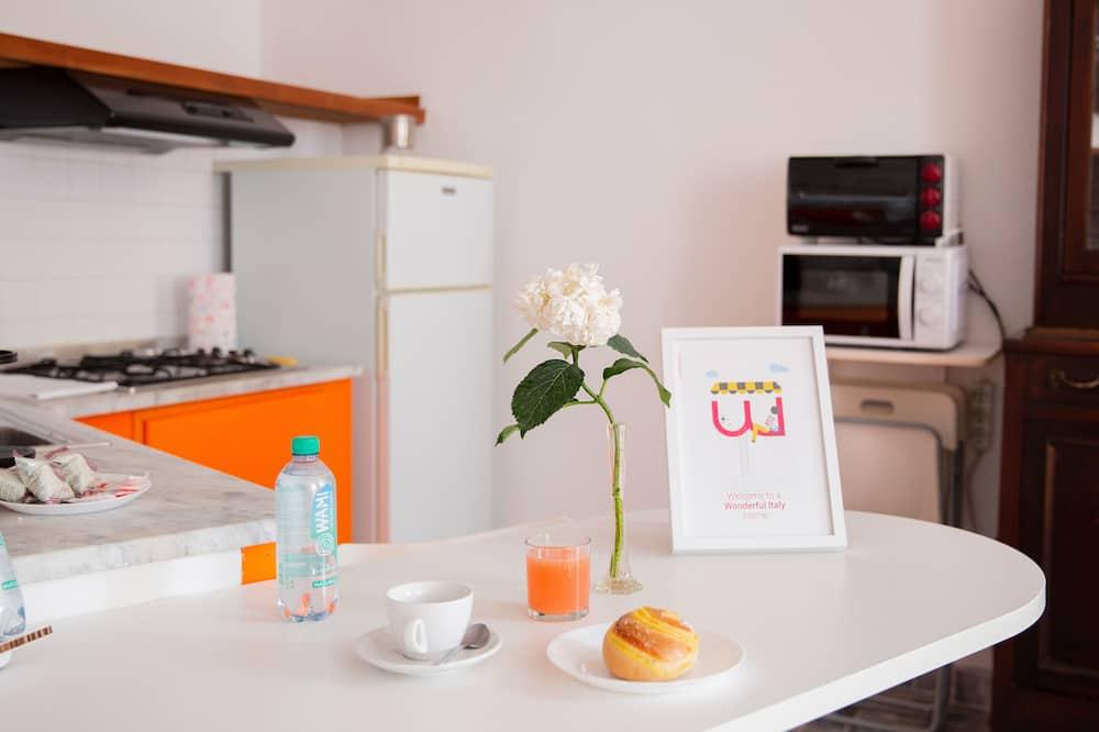 Lejlighed - 1 soveværelse - Spisning på værelset