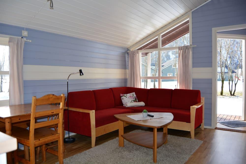 Sumarhús - 1 svefnherbergi - útsýni yfir garð (Cleaning, bed linen & towels not incl) - Stofa