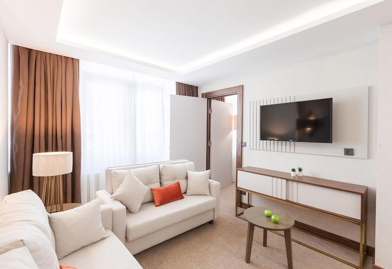 Sherry Suites Karaköy, Istanbul, Căn hộ dành cho gia đình, 2 phòng ngủ, Phòng khách