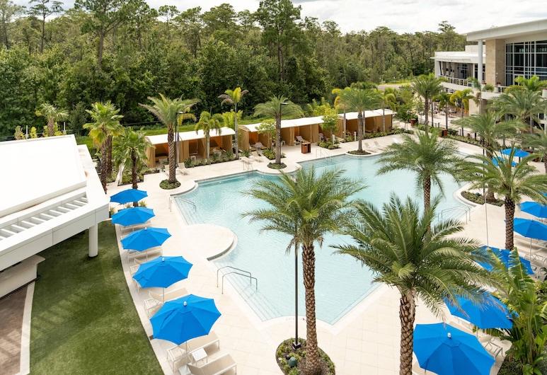 JW Marriott Orlando Bonnet Creek Resort & Spa, Orlando, Apartament typu Executive Suite, 1 sypialnia, dla niepalących, widok na basen, Widok z pokoju