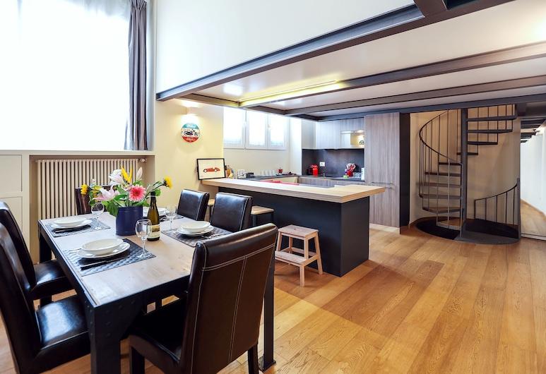 Sant'Ambrogio Charming Loft, Milan, Apartment, 1 Bedroom, Non Smoking, Living Area
