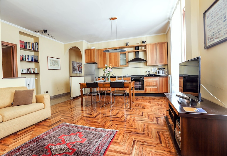 Amendola & CityLife-Portello Flat, Milan, Apartment, 1 Bedroom, Non Smoking, Living Area