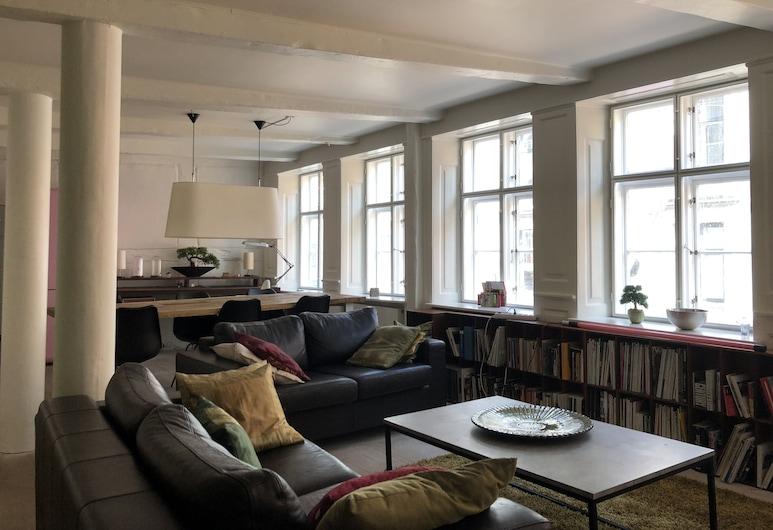 Best Stay Copenhagen - Ny Adelgade 7, Kodaň, Apartmán, 2 ložnice, nekuřácký, Obývací pokoj