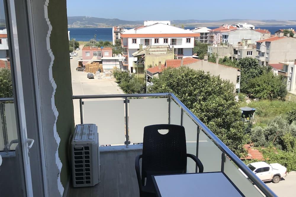Pokoj Deluxe s dvojlůžkem, balkon, výhled na moře - Balkón