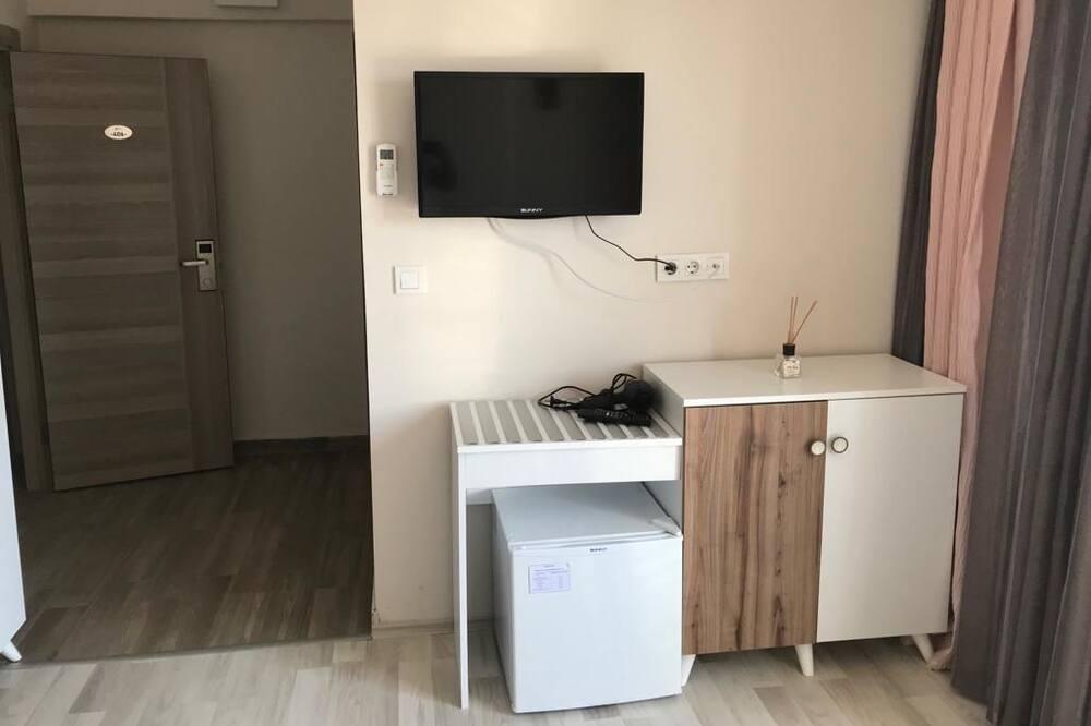 Pokoj Deluxe s dvojlůžkem, balkon, výhled na moře - Obývací prostor