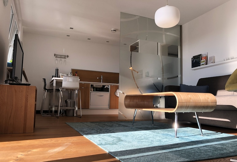 Panorama52, Remseck am Neckar, Comfort-Apartment (on top of the rate cleaning Fee 60 EUR), Obývačka