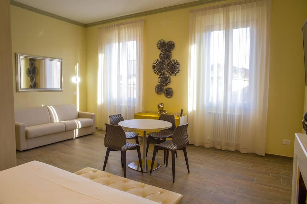 Appartamento Deluxe, 1 camera da letto, vista collina (S.Luca) - Area soggiorno