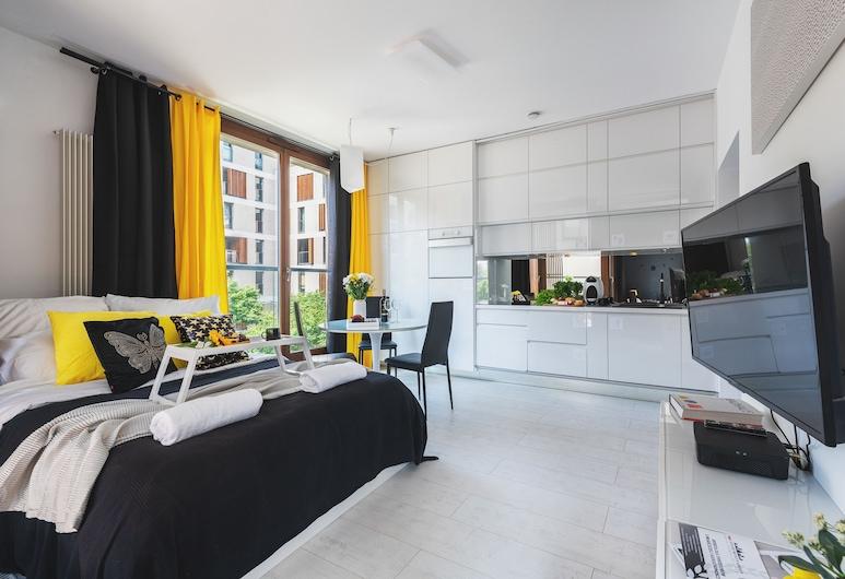 P&O Apartments Kolejowa 3, Warsaw, Exclusive Apartment, Living Area
