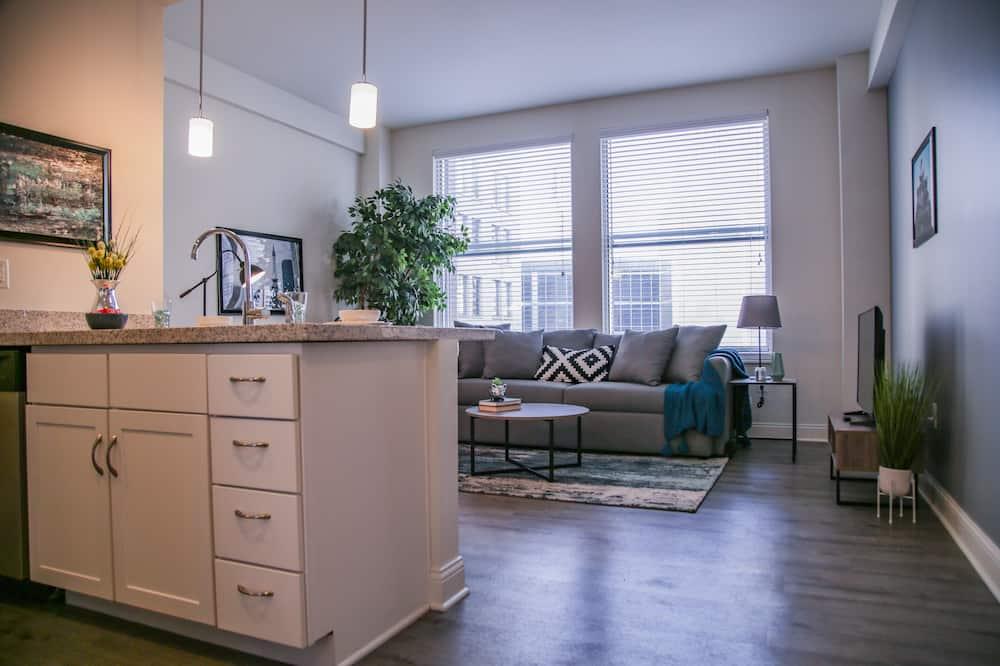 คลาสสิกอพาร์ทเมนท์, 1 ห้องนอน - ห้องนั่งเล่น