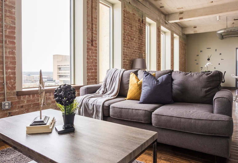 Modern Industrial Apartments, Dallas, Apartment, 1 Bedroom, Living Area