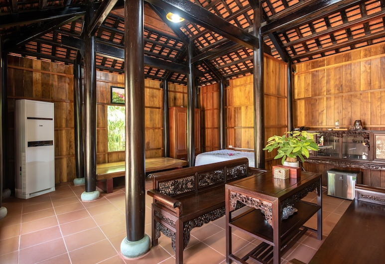 Ha Gia Ecolodge & Riverside, Dien Ban, Family Wood House, Guest Room