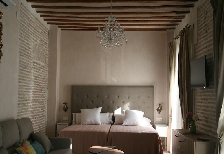 Apartamentos Sevillanos Ilustres, Sevilla, Tetőtéri szoba, erkély, Vendégszoba