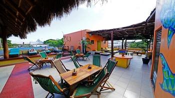在卡曼海滩的3B 时髦与便宜青年旅舍照片