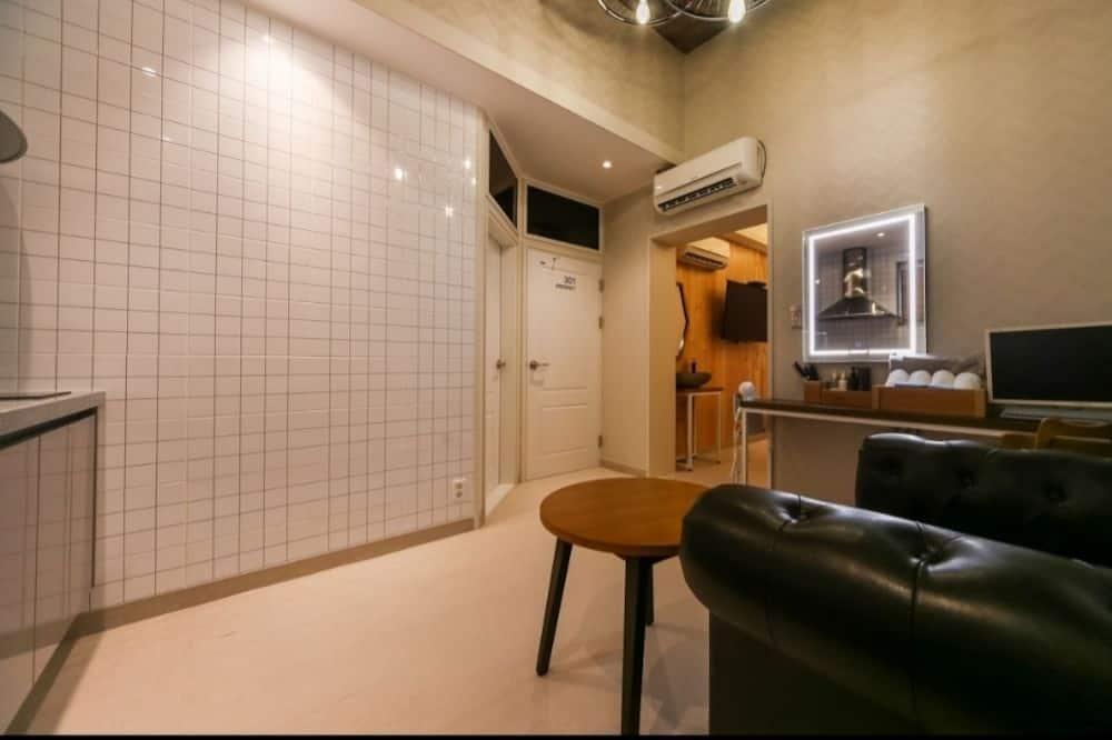 Dvojlôžková izba typu Premium, kuchynka (VIP) - Obývacie priestory