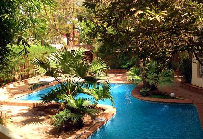 Hotel La Chaumiere, Bamako, Piscina