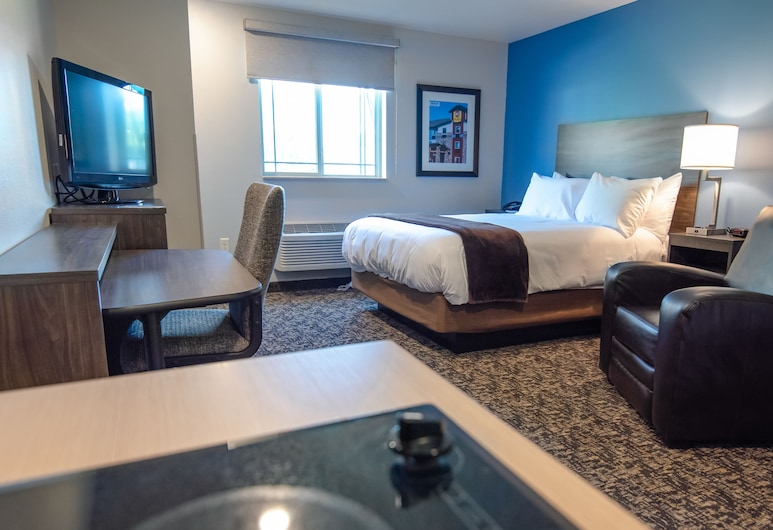 My Place Hotel - Indianapolis Airport/Plainfield, IN, Plainfield, Room, 1 Katil Ratu (Queen) (Hearing Impaired with Recliner), Bilik Tamu