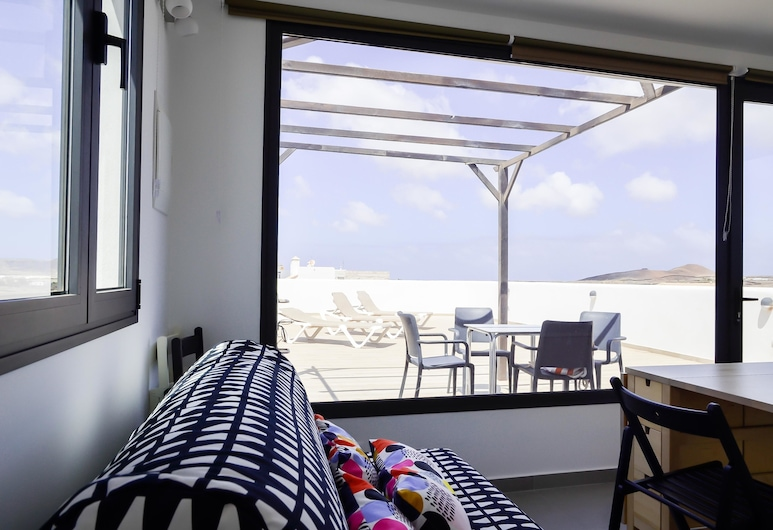 Agua Guest House, La Oliva, Panoramic-Studiosuite, eigenes Bad, Blick vom Balkon