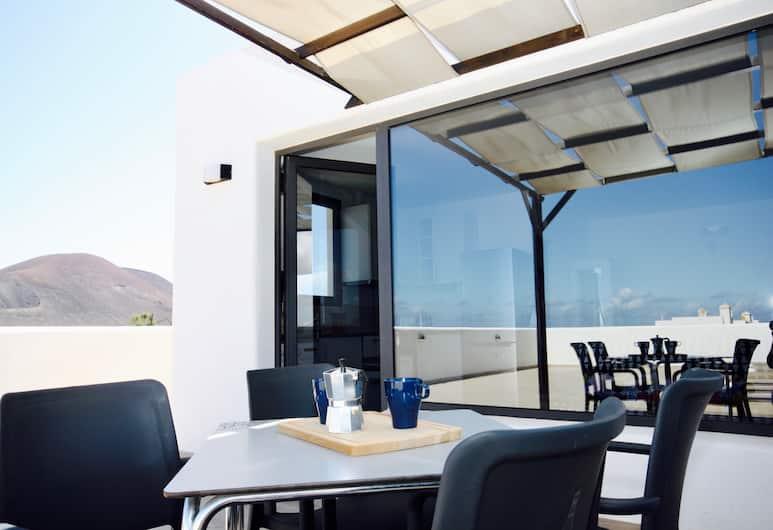 Agua Guest House, La Oliva, Studiosuite – panoramic, privat bad, Terrasse/veranda