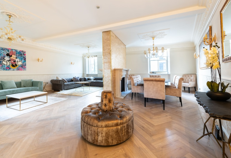 Charles Street Apartments, London, Luxury-Apartment (Modern Luxurious 3 Bedroom Ensuite), Wohnbereich