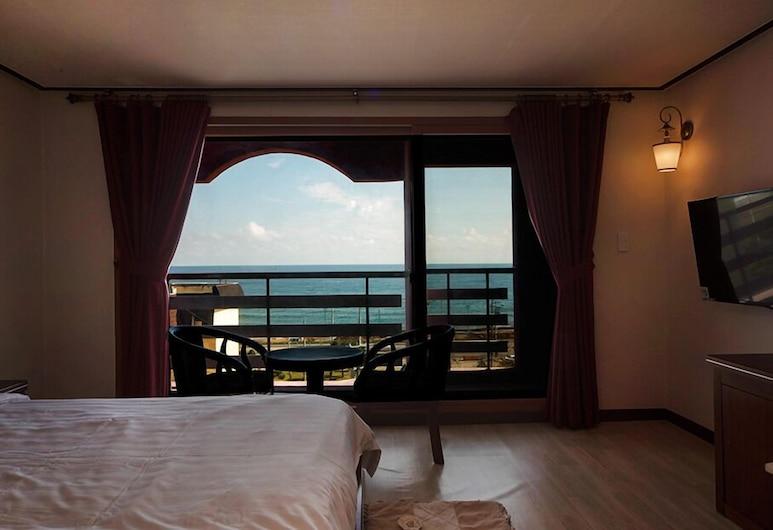 هايدوجي هوتل يانج يانج, يانغ يانغ, غرفة ديلوكس بسريرين منفصلين, إطلالة على الشاطئ/ البحر