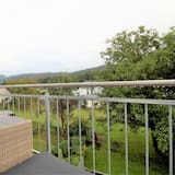 Departamento Confort, 2 habitaciones, vista a la ciudad (incl. 80 EUR cleaning Fee, 3S) - Vista al balcón