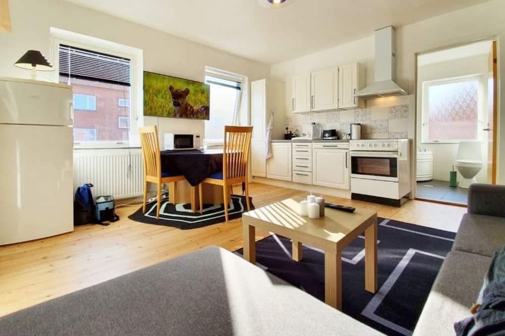 Апартаменты «Сити», 1 спальня, кухня - Зона гостиной