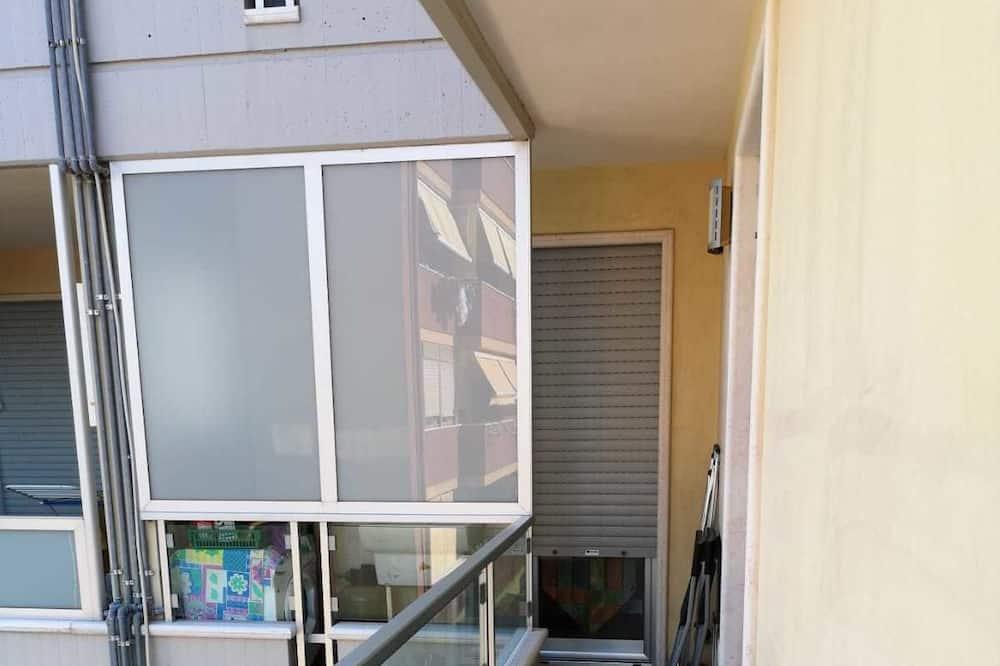 Classic-Apartment, 1 Queen-Bett, Küche - Balkon