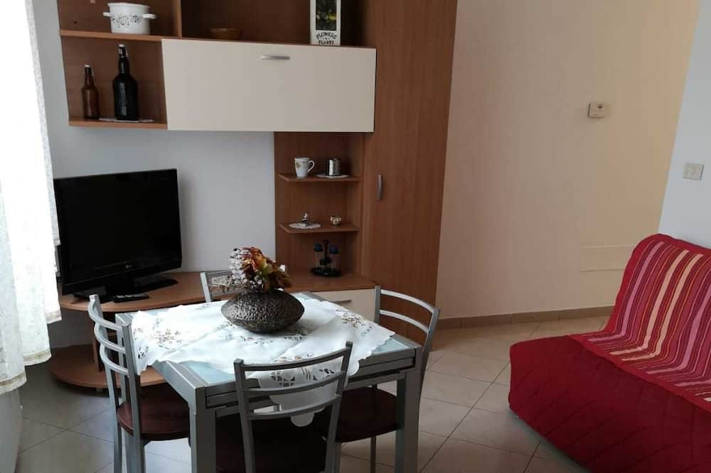 Classic-Apartment, 1 Queen-Bett, Küche - Wohnbereich