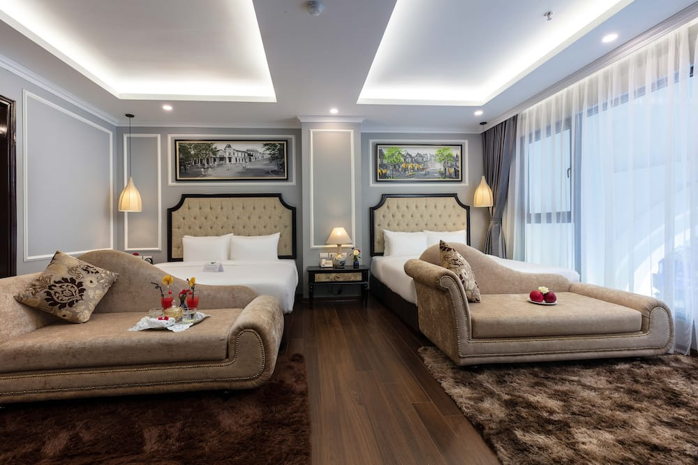 Family Suite Room with View - 客廳