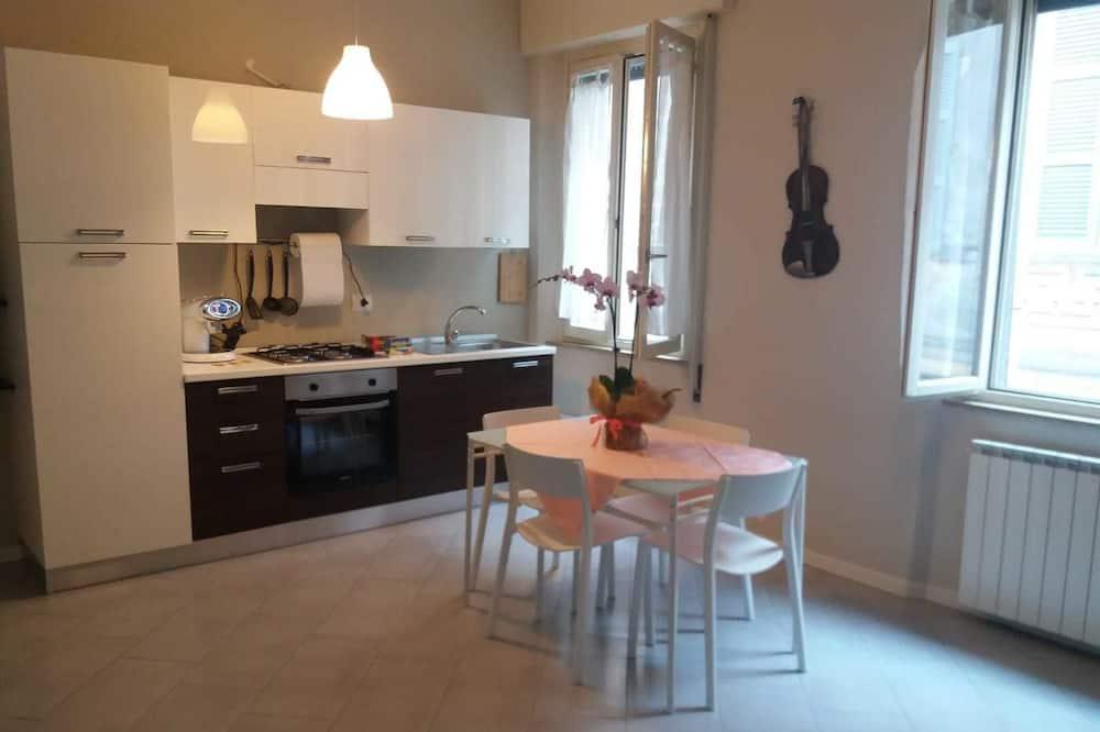 Traditioneel appartement, 1 tweepersoonsbed met slaapbank - Woonruimte