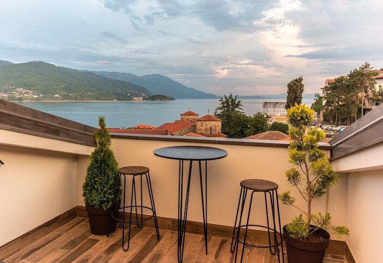 Villa Varosh, Ohrid, Penthouse Panoramique, Balcon