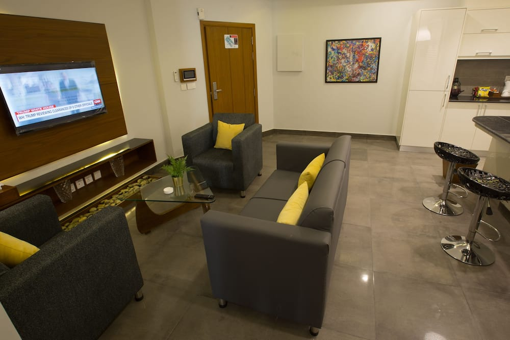 Apartamentai su patogumais - Svetainės zona