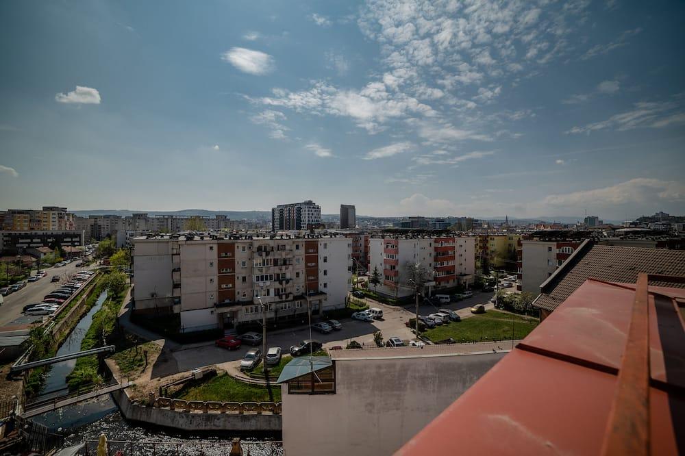 Habitación básica doble de uso individual, 1 cama individual grande, balcón, vistas a la ciudad - Vistas al balcón