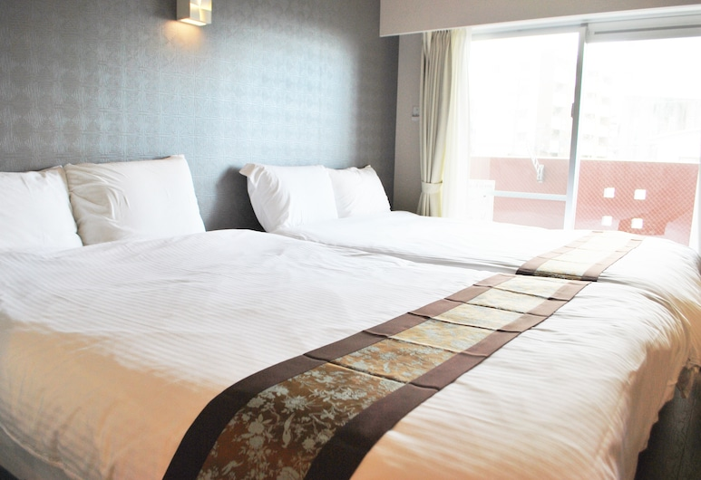Ten Point Hotel, Naha, Twin Room, 2 Double Beds, for 1-2 people, Room
