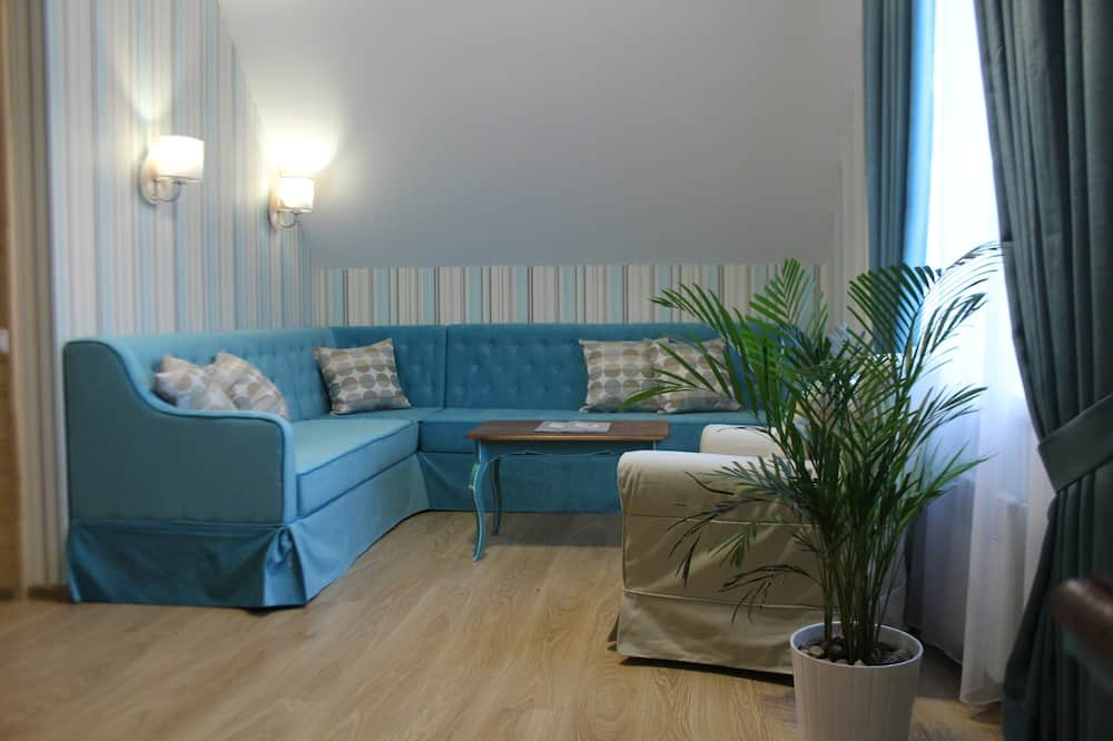 Luxus lakosztály, 1 hálószobával - Nappali rész