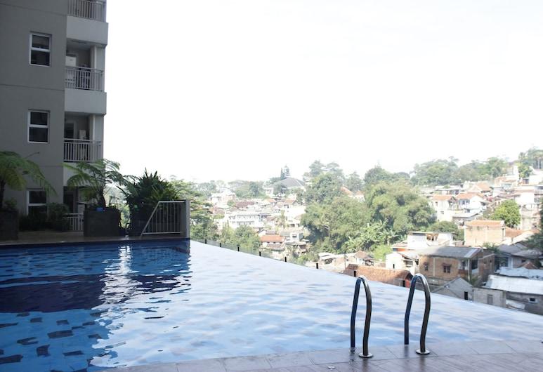 Direct Access to Pool 2BR Apartment at Parahyangan Residence, Bandung, Infinity-Pool