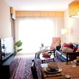 Pamatklases dzīvokļnumurs, četras guļamistabas, terase - Dzīvojamā zona